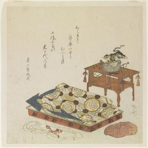 Folded Court Robe and a Hat with Tiger Ornament by Ryuryukyo Shinsai