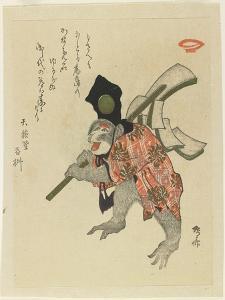 Monkey Costumed for a New Year's Dance, Early 19th Century by Ryuryukyo Shinsai