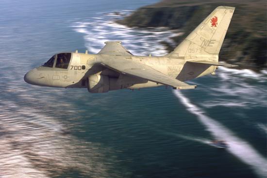 S-3 Viking Flying over San Diego, California-Stocktrek Images-Photographic Print