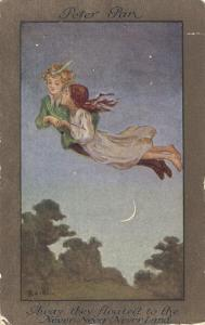 Peter Pan and Wendy Fly to Never-Never Land by S^ Barham