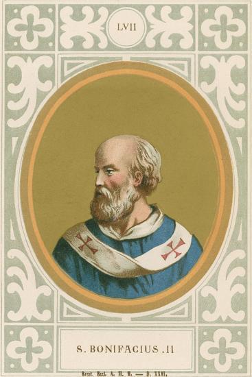 S Bonifacius II-European School-Giclee Print