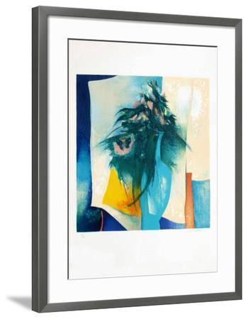 S - Bouquet Au Vase Bleu-Claude Gaveau-Framed Limited Edition