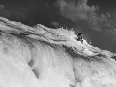 S. Florida, Woman Playing in Surf-Pat Canova-Photographic Print