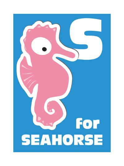 S For The Seahorse, An Animal Alphabet For The Kids-Elizabeta Lexa-Art Print