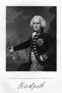 Admiral Alexander Hood (1726-181), 1st Viscount Bridport, 1837 by S Freeman