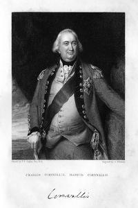 Charles Cornwallis (1738-180), 1st Marquess Cornwallis, 1839 by S Freeman