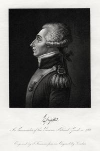 Marquis De Lafayette, French Military Leader and Statesman, 1845 by S Freeman