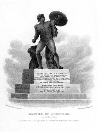 Statue of Achilles, Hyde Park, London, 1827