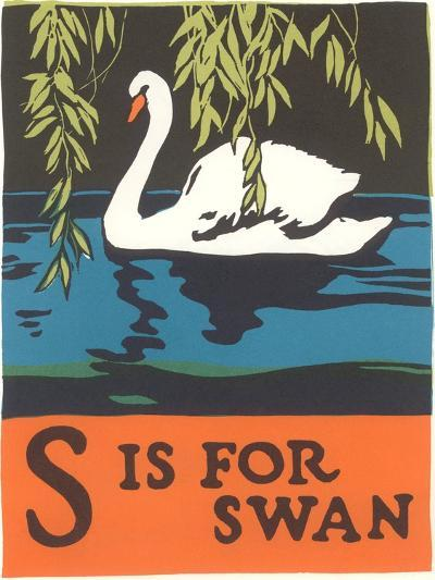 S is for Swan--Art Print