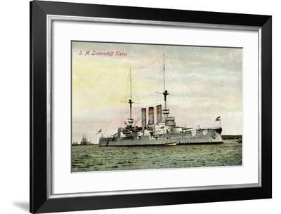S.M. Linienschiff Elsass Auf See--Framed Giclee Print