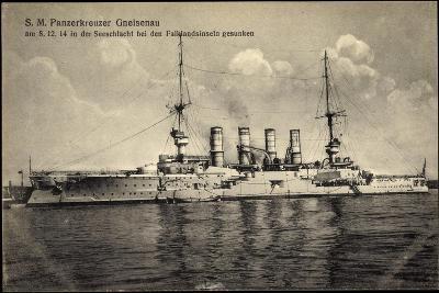 S. M. Panzerkreuzer Gneisenau, Falklandinseln 1914--Giclee Print