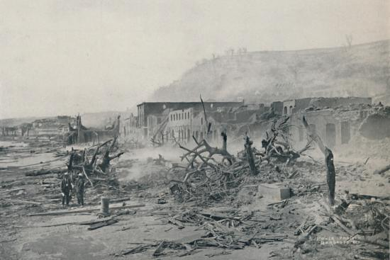 'S. Pierre After The Eruption', 1916-Unknown-Photographic Print