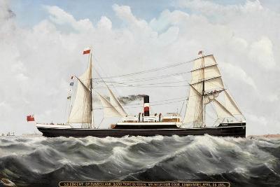 S.S. Cogent' of Sunderland, 1884-85-John Hudson-Giclee Print