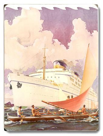 S.S. Lurline, Outrigger Greeting