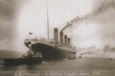 S.S. Titanic - In Belfast Lough - April 1912, 1912--Giclee Print