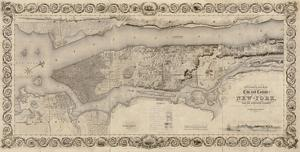 City and Country of New York, 1836 by S^ Stiles