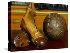 1900s Soccer Ball and Boots by S. Vannini