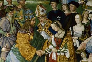 Detail of Fresco Painting of Frederick III's Betrothal to Eleonora of Portugal by Pinturicchio by S. Vannini
