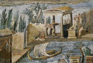 Detail of Palestrina Mosaic by S. Vannini