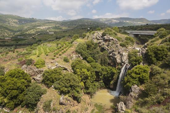 Sa'Ar Waterfall at the Hermon Nature Reserve, Golan Heights, Israel, Middle East-Yadid Levy-Photographic Print