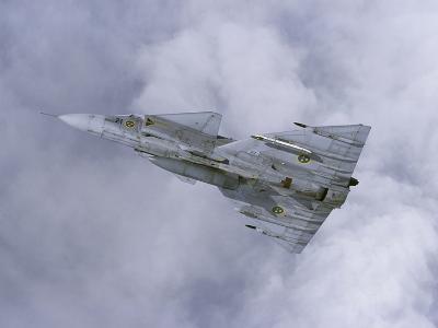 Saab JA 37 Viggen Fighter of the Swedish Air Force-Stocktrek Images-Photographic Print