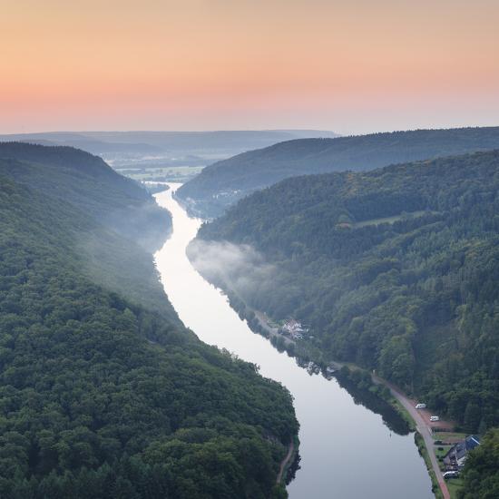 Saar Loop (Grosse Saarschleife) Seen from Cloef Viewing Point, Germany-Markus Lange-Photographic Print