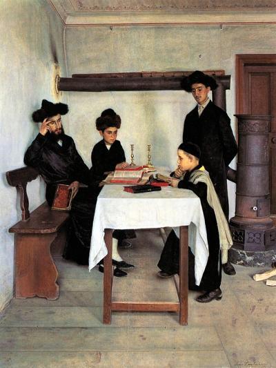Sabbath Day-Isidor Kaufmann-Art Print