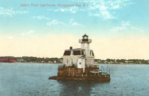 Sabin's Point Lighthouse, Narragansett Bay, Rhode Island
