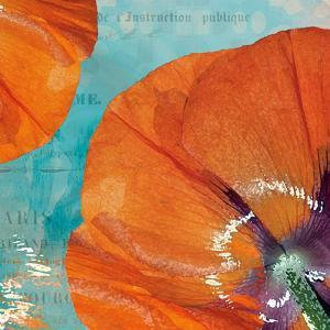 Poppies in the Sky I by Sabine Berg