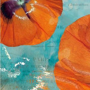 Poppies in the Sky II by Sabine Berg