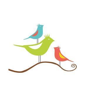 Songbirds II by Sabine Berg
