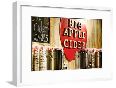 Big Apple Cider for Sale at the Christmas Market in Bryant Park,