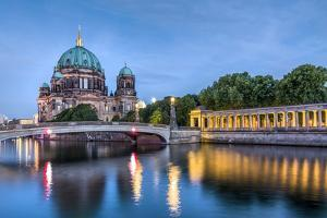 Berlin Dom and Spree River, Berlin, Germany by Sabine Lubenow
