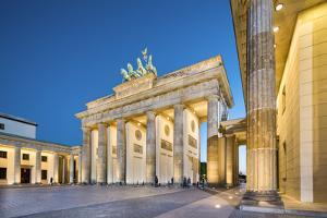 Brandenburg Gate, Pariser Platz, Berlin, Germany by Sabine Lubenow