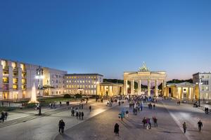 Brandenburg Gate, Pariser Platz, Berlin, Germany by Sabine Lubenow