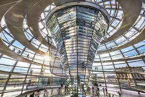 Interior, Dome, Reichstag, Berlin, Germany by Sabine Lubenow