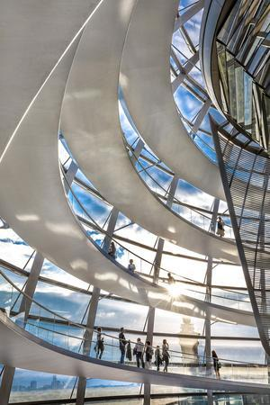 Interior, Dome, Reichstag, Berlin, Germany