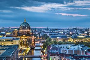 Overview, Berlin Dom and Spree River, Berlin, Germany by Sabine Lubenow