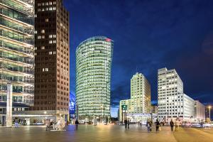 Potsdamer Platz at night, Berlin, Germany by Sabine Lubenow