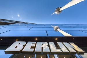 Reflection, TV Tower, Alexanderplatz, Berlin, Germany by Sabine Lubenow