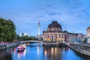 River Spree, Bode Museum and TV tower, Museum Island, Berlin, Germany by Sabine Lubenow