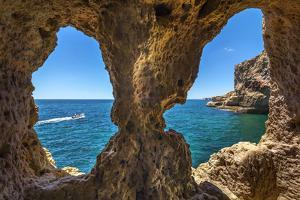 Rock Cave, Algar Seco, Carvoeiro, Algarve, Portugal by Sabine Lubenow