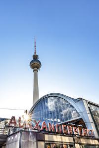 TV Tower and train station, Alexanderplatz, Berlin, Germany by Sabine Lubenow