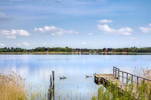 View over lake Pönitz, Scharbeutz, Baltic coast, Schleswig-Holstein, Germany by Sabine Lubenow