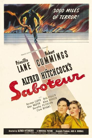 Saboteur, 1942, Directed by Alfred Hitchcock--Giclee Print
