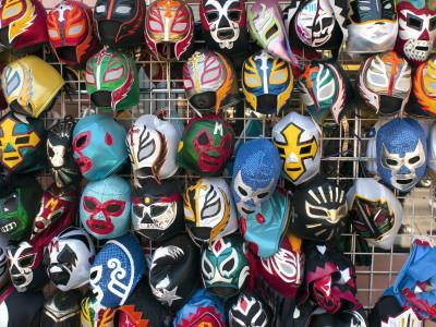 Mexican Wrestling Masks for Sale on South Vanness Avenue and 24th Street