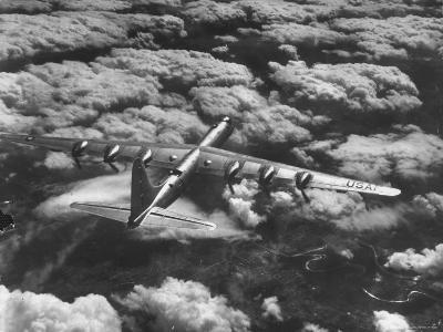 SAC's B-36 Bomber Plane During Practice Run from Strategic Air Command's Carswell Air Force Base-Margaret Bourke-White-Photographic Print
