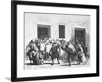 Sacking of Bakery, Episode of the Bread Riots in Milan-Alessandro Marchesini-Framed Giclee Print