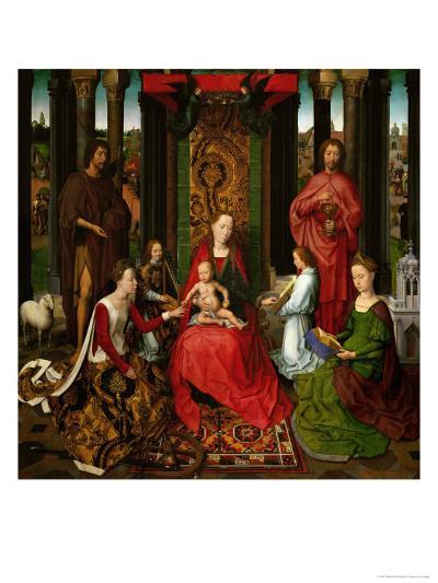 Sacra Conversazione, Altarpiece of St. John the Baptist and St. John the Evangelist, 1474-79-Hans Memling-Giclee Print
