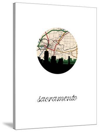 Sacramento Map Skyline